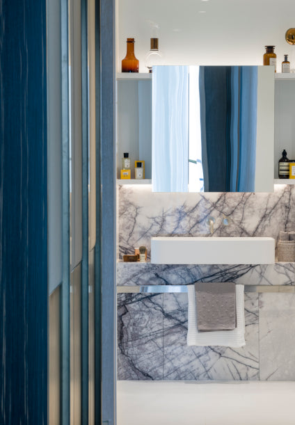 7 Guest Bathroom Styling Ideas to Impress your Guests | Designer - Goddard Littlefair, Photographer - Gareth Gardner | LuxDeco.com Style Guide