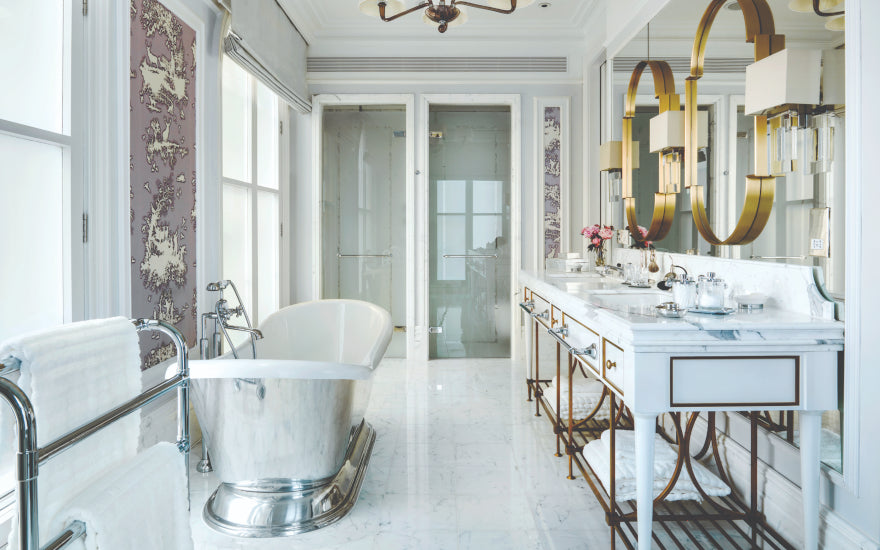 7 Guest Bathroom Styling Ideas to Impress your Guests | The Langham | LuxDeco.com Style Guide