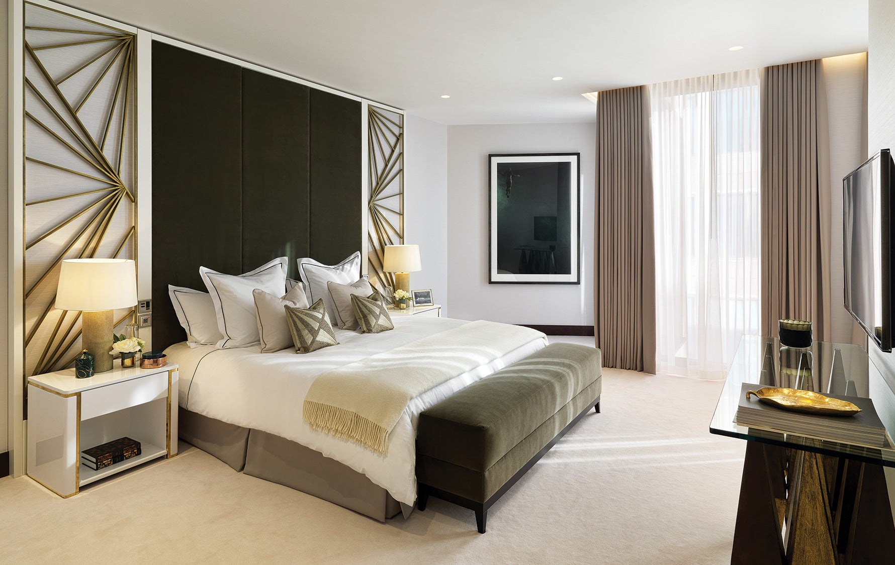 Green Interior Inspiration – Green Bedroom – Spinocchia Freund – LuxDeco.com Style Guide
