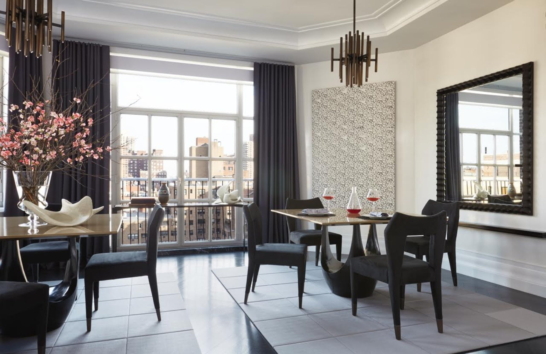 Monochrome Dining Room – Dining Room Colour Palettes - Dining Room Colour Schemes & Colour Combination ideas – Read in the LuxDeco.com Style Guide