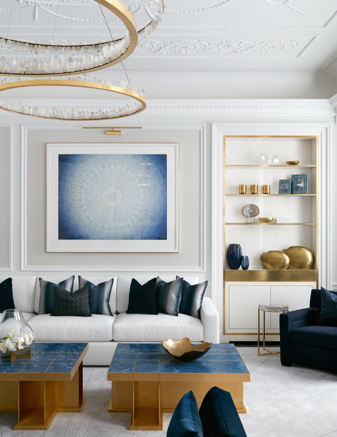 Living Room Lighting Ideas – Katharine Pooley – Read more on LuxDeco.com