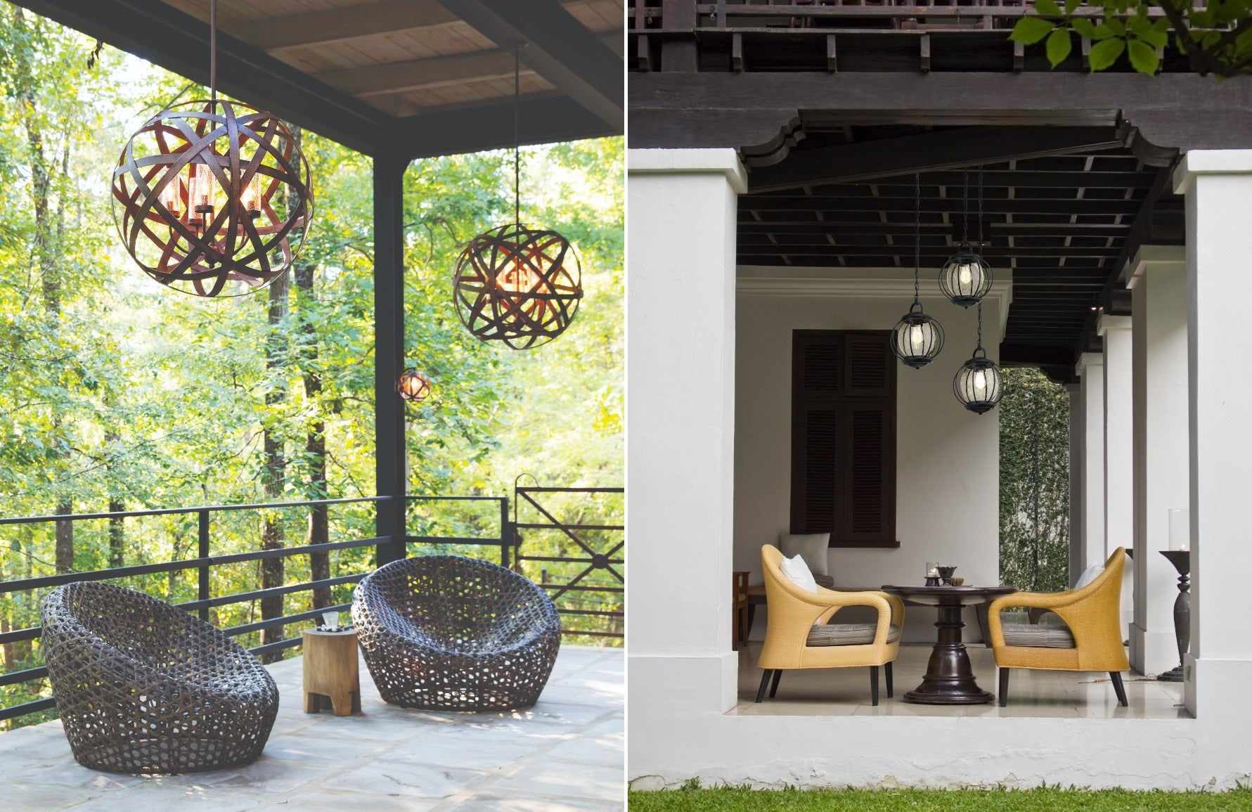Outdoor hanging Lights - 8 Outdoor Lighting Ideas to Illuminate Your Garden - LuxDeco.com Style Guide