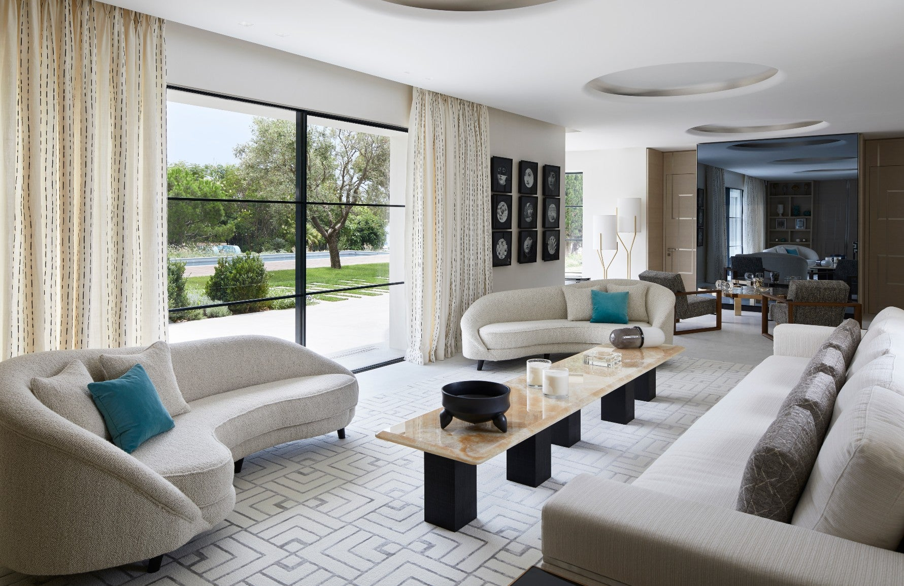 Neutral Living Rooms | Stephane Coutas South of France Living Room |Read more and shop the look at LuxDeco.com