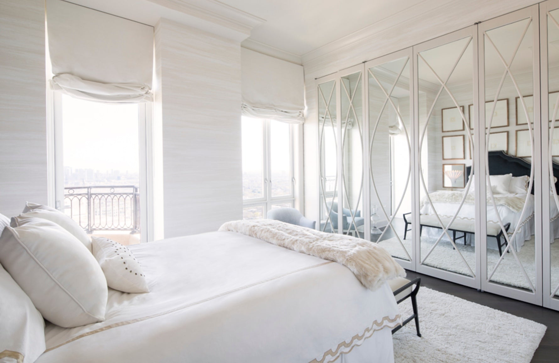 9 Ways to Decorate & Fill Empty Bedroom Corners - Awkward Bedroom Corners - Anthony Michael Interior Design - LuxDeco.com Style Guide