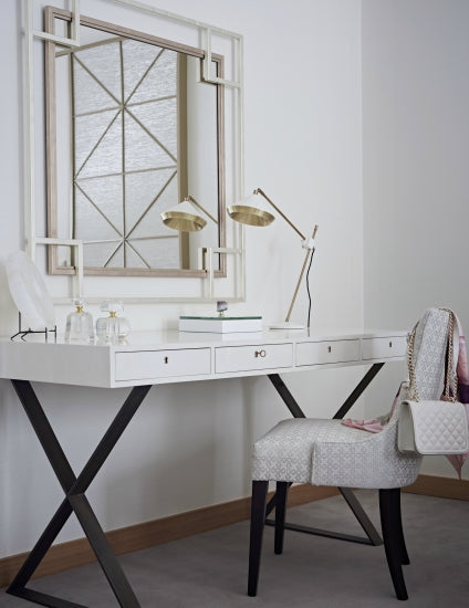9 Ways to Decorate & Fill Empty Bedroom Corners - Awkward Bedroom Corners - Taylor Howes Interiors - LuxDeco.com Style Guide