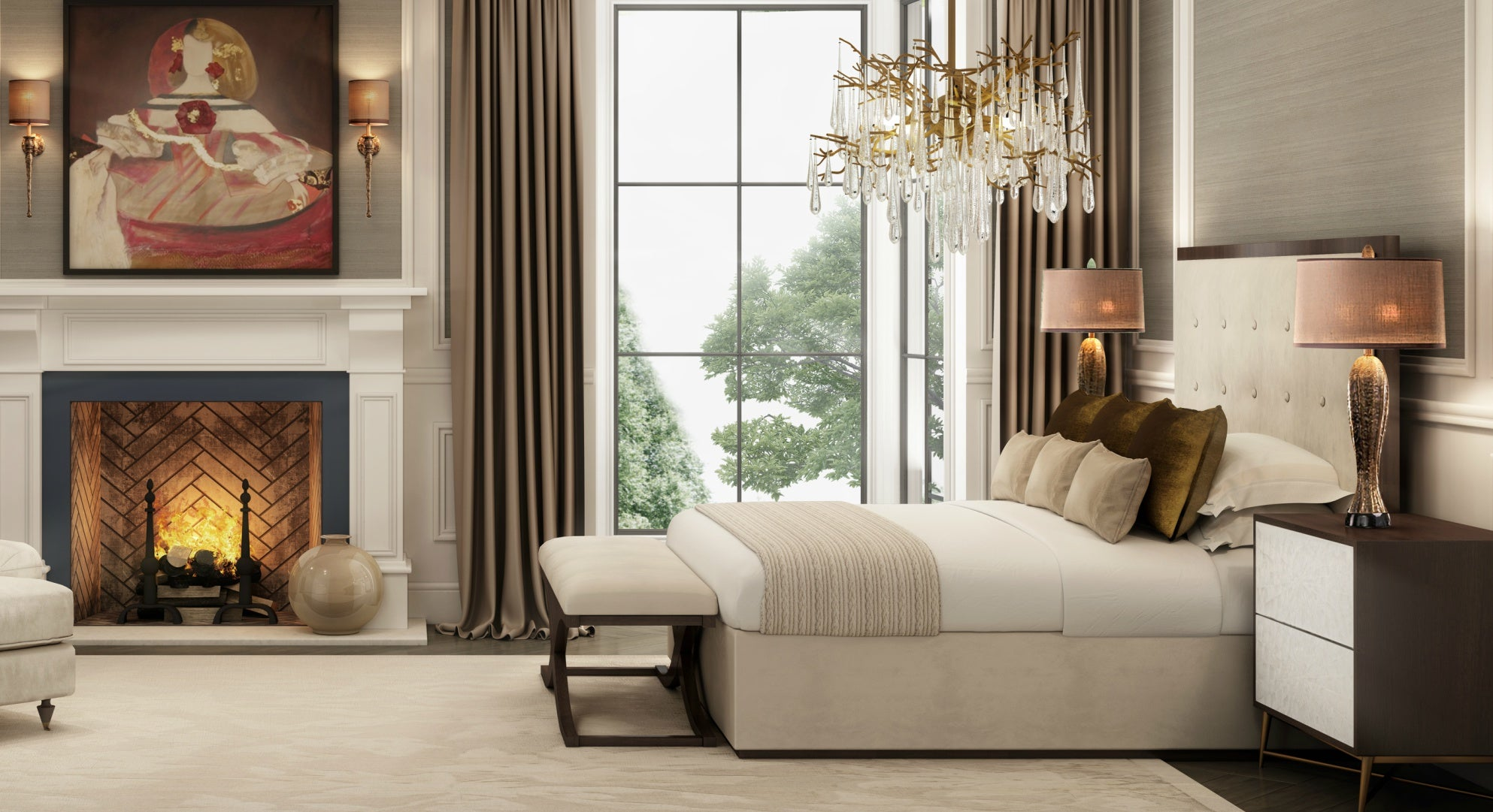 Autumn Winter 2019 Collection | Surrey Lookbook | Luxury Bedroom Design | LuxDeco.com