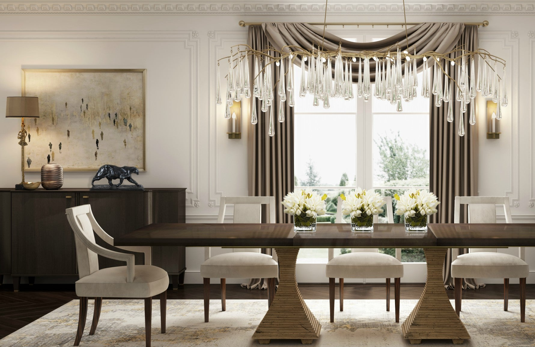 Autumn Winter 2019 Collection | Surrey Lookbook | Luxury Dining Room | LuxDeco.com