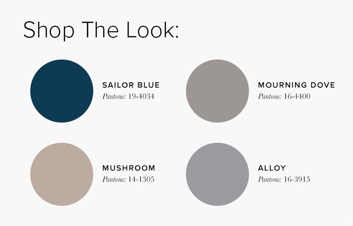 Blue and Grey Living Room Colour swatches - Lounge Colour Schemes & Colour Combination ideas – LuxDeco Style Guide