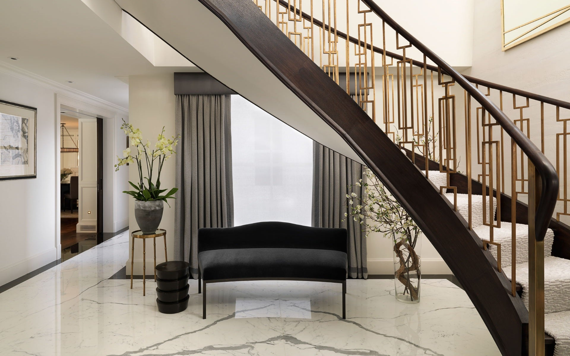 Beautiful Staircase Ideas For Your Home - carpeted riser and tread staircase - LuxDeco.com Style Guide