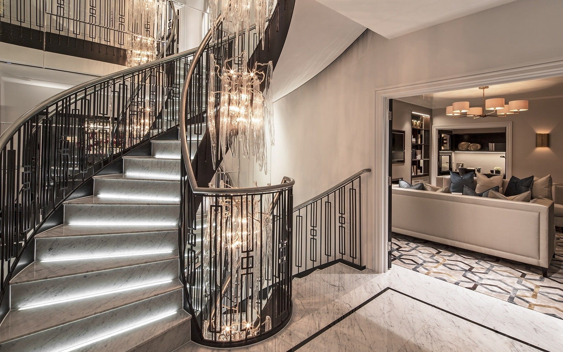 Beautiful Staircase Ideas For Your Home - half-turn staircase - LuxDeco.com Style Guide