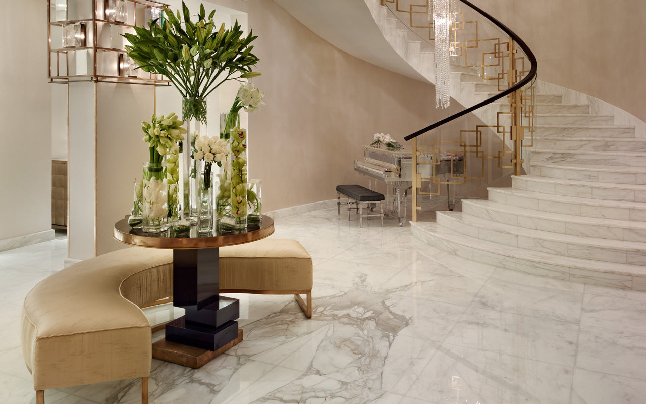 Beautiful Staircase Ideas For Your Home - marble helical staircase - LuxDeco.com Style Guide