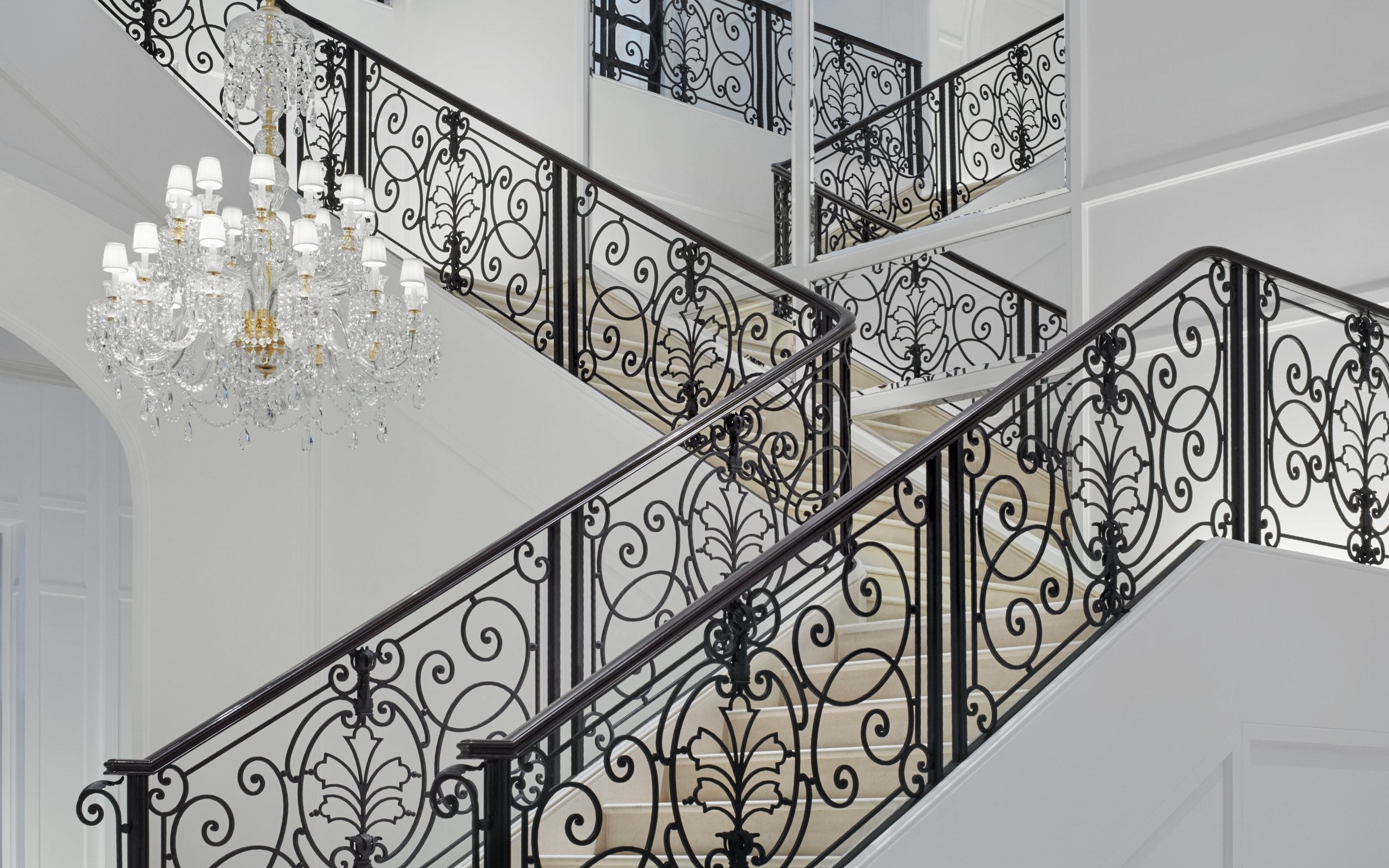 Beautiful Staircase Ideas For Your Home - quarter-turn staircase - LuxDeco.com Style Guide