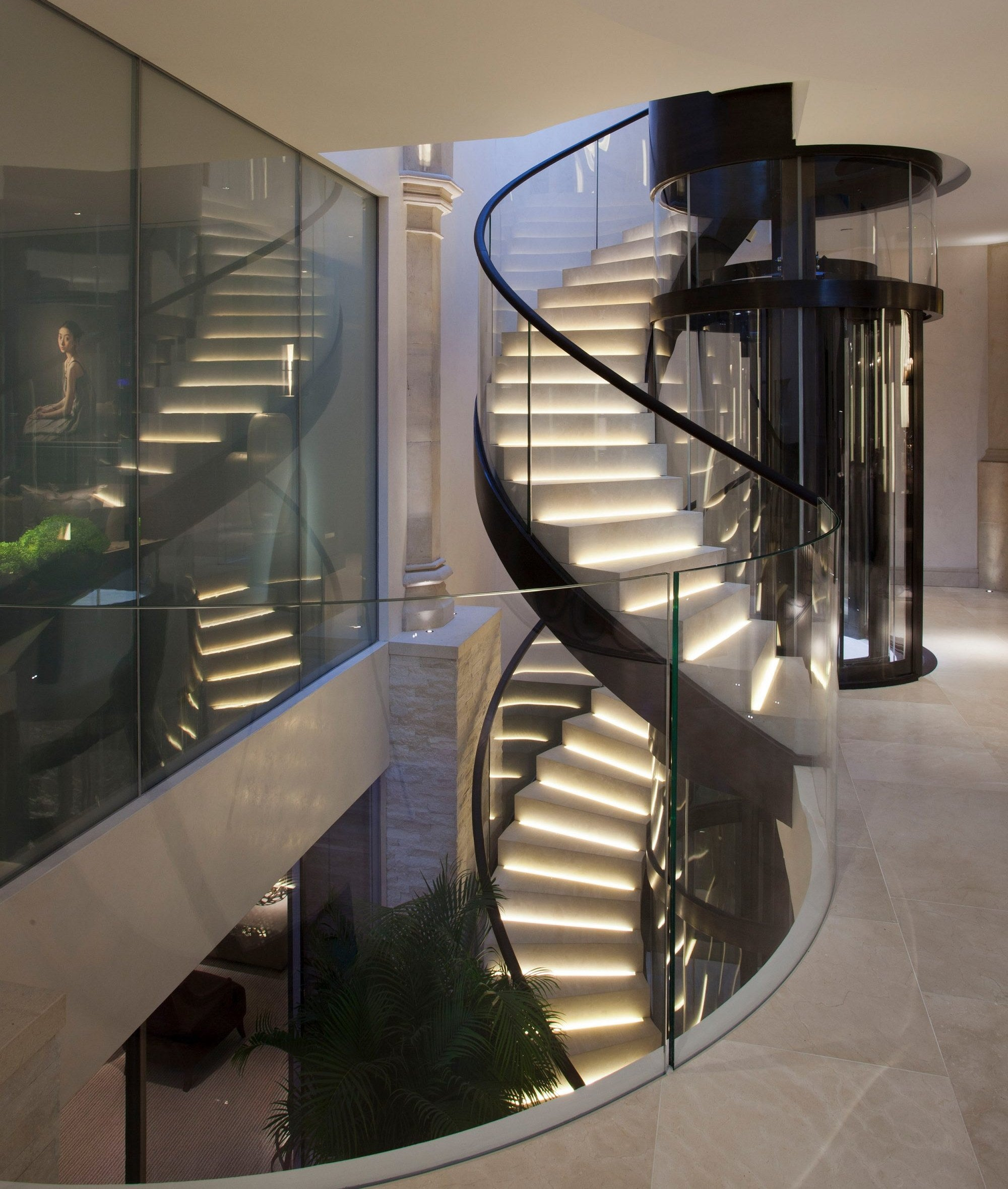 Beautiful Staircase Ideas For Your Home - spiral staircase - LuxDeco.com Style Guide