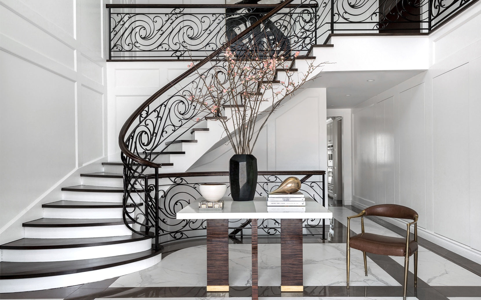 Beautiful Staircase Ideas For Your Home - two-tone staircase - LuxDeco.com Style Guide