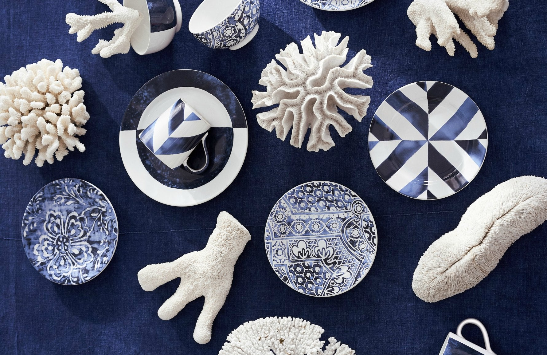 Behind The Brand, Ralph Lauren | Blue and white tableware | Shop at LuxDeco.com