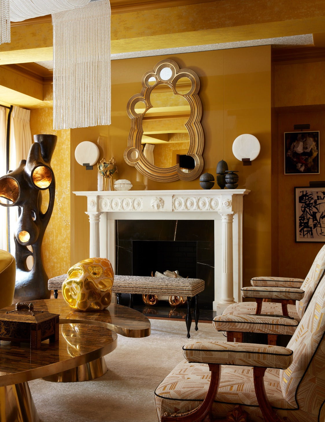 Best Yellow Living Room Ideas | Yellow Living Room Accessories | Decorating with Yellow | LuxDeco.com Style Guide