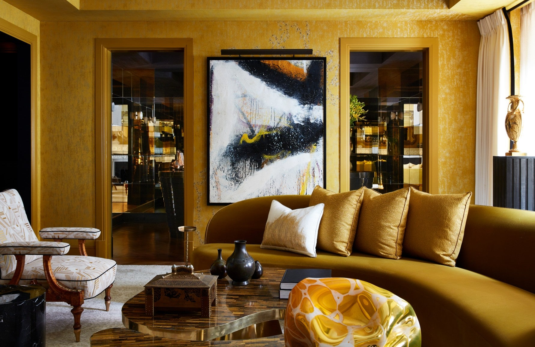 Best Yellow Living Room Ideas | Gold Living Room Colour Scheme | Decorating with Yellow | LuxDeco.com Style Guide