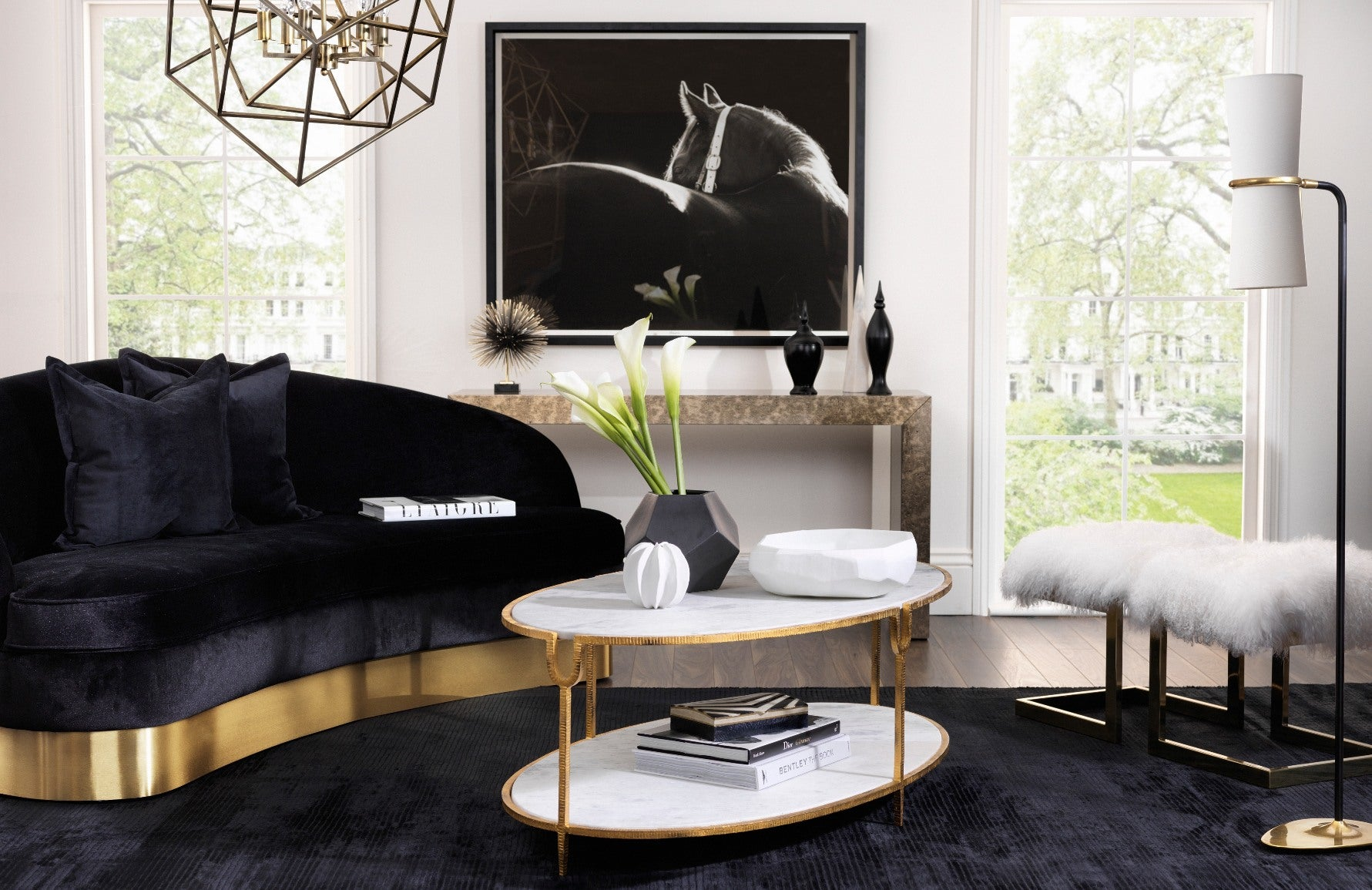Black Living Room Ideas Decorating With Black Luxdeco
