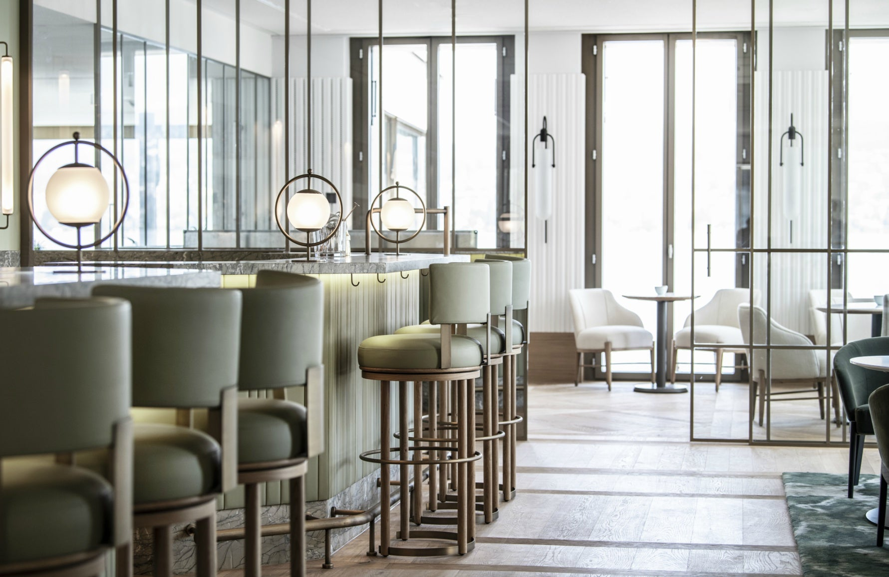 BradyWilliams | Luxury Restaurant Design | Hotel Lake, Zurich | LuxDeco.com | The Luxurist