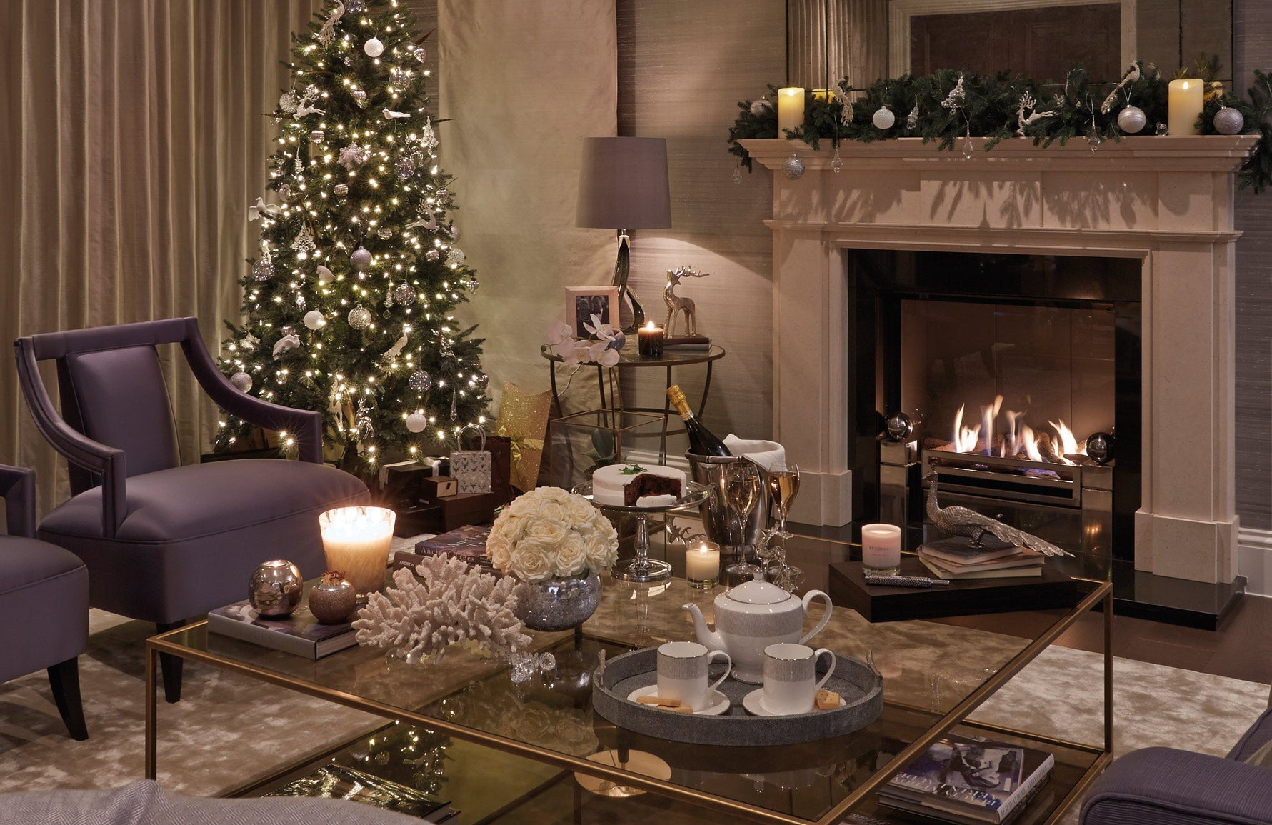 Christmas Decorating Ideas | Contemporary Christmas Decor | Interior by Sophie Paterson | Shop now at LuxDeco.com