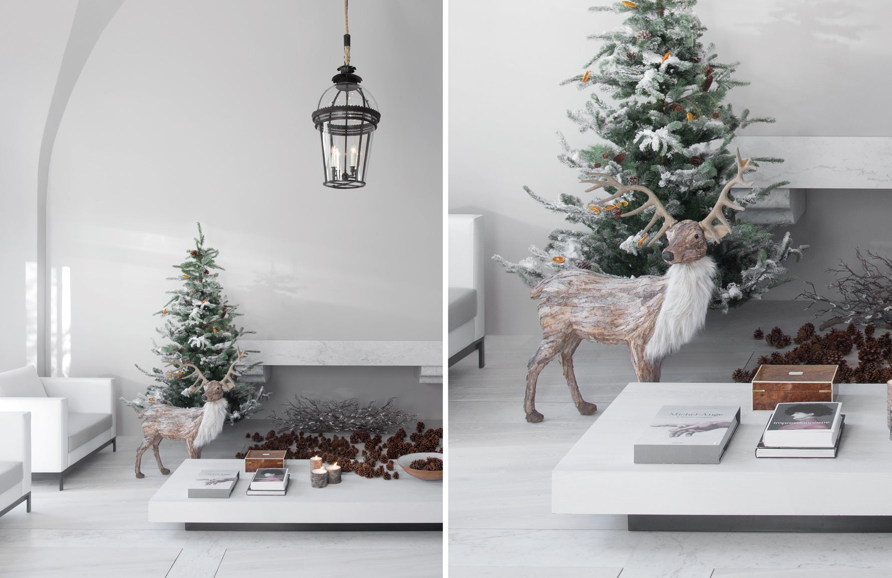 Christmas Decorating Ideas | Minimalist Christmas Decor | Interior by Guillaume Alan | Shop now at LuxDeco.com