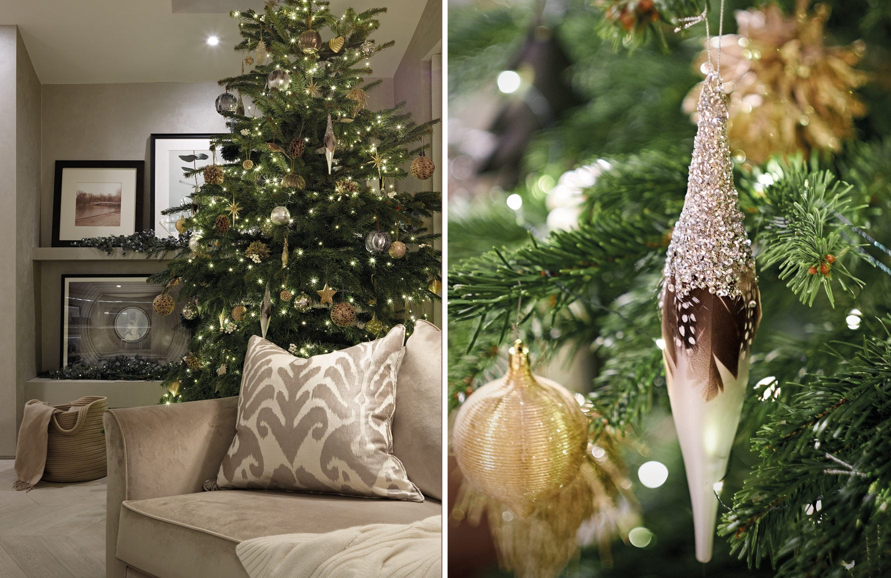 Christmas Decorating Ideas | Neutral Christmas Decor | Interior by Laura Hammett | Shop now at LuxDeco.com