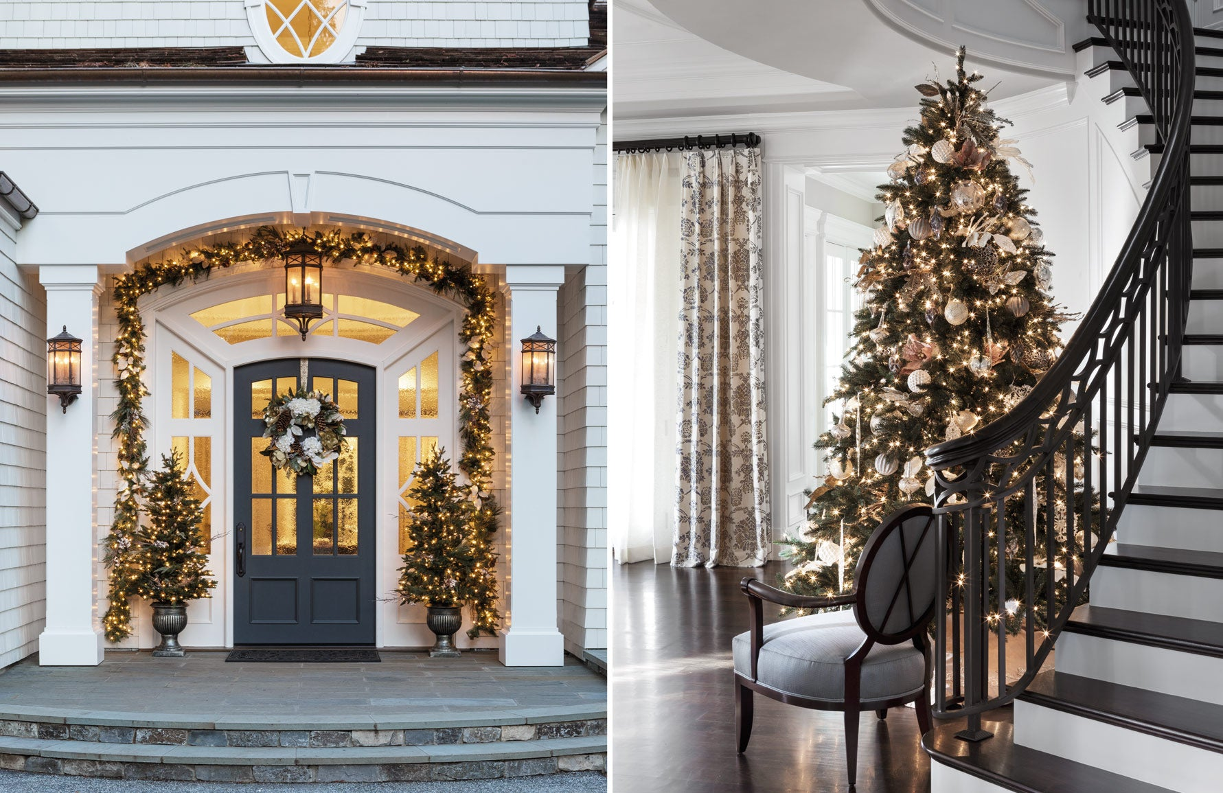 Christmas Colour Schemes |  Sophisticated Silver Christmas Decor | Decorating by Spectrum | LuxDeco.com