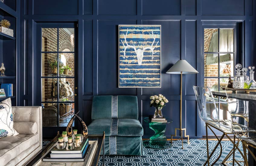 12 Incredible Blue Living Room Colour Scheme Ideas | LuxDeco.com