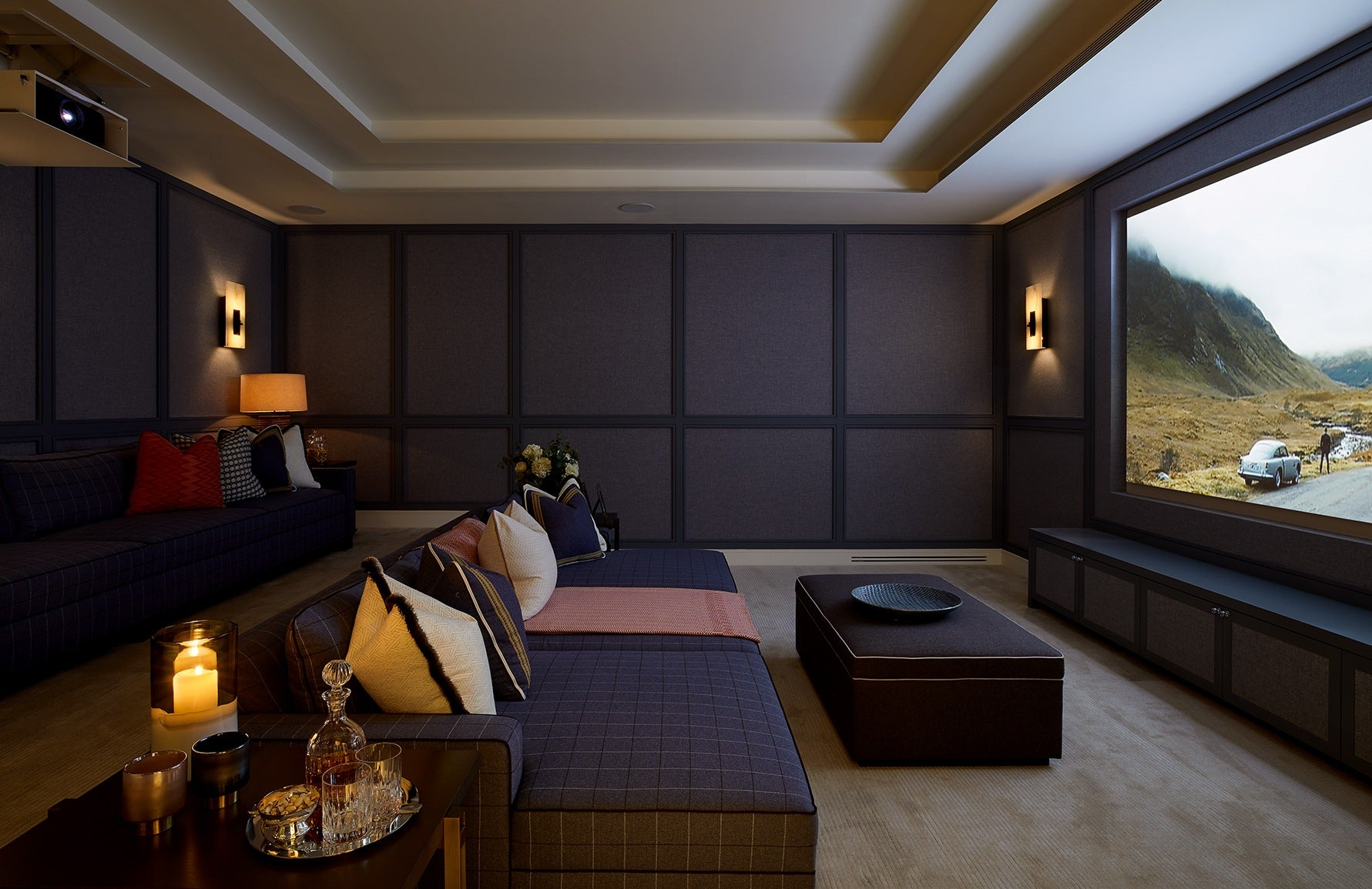 How To Design Your Own Home Cinema Room | Interior by Finchatton | Get the look at LuxDeco.com