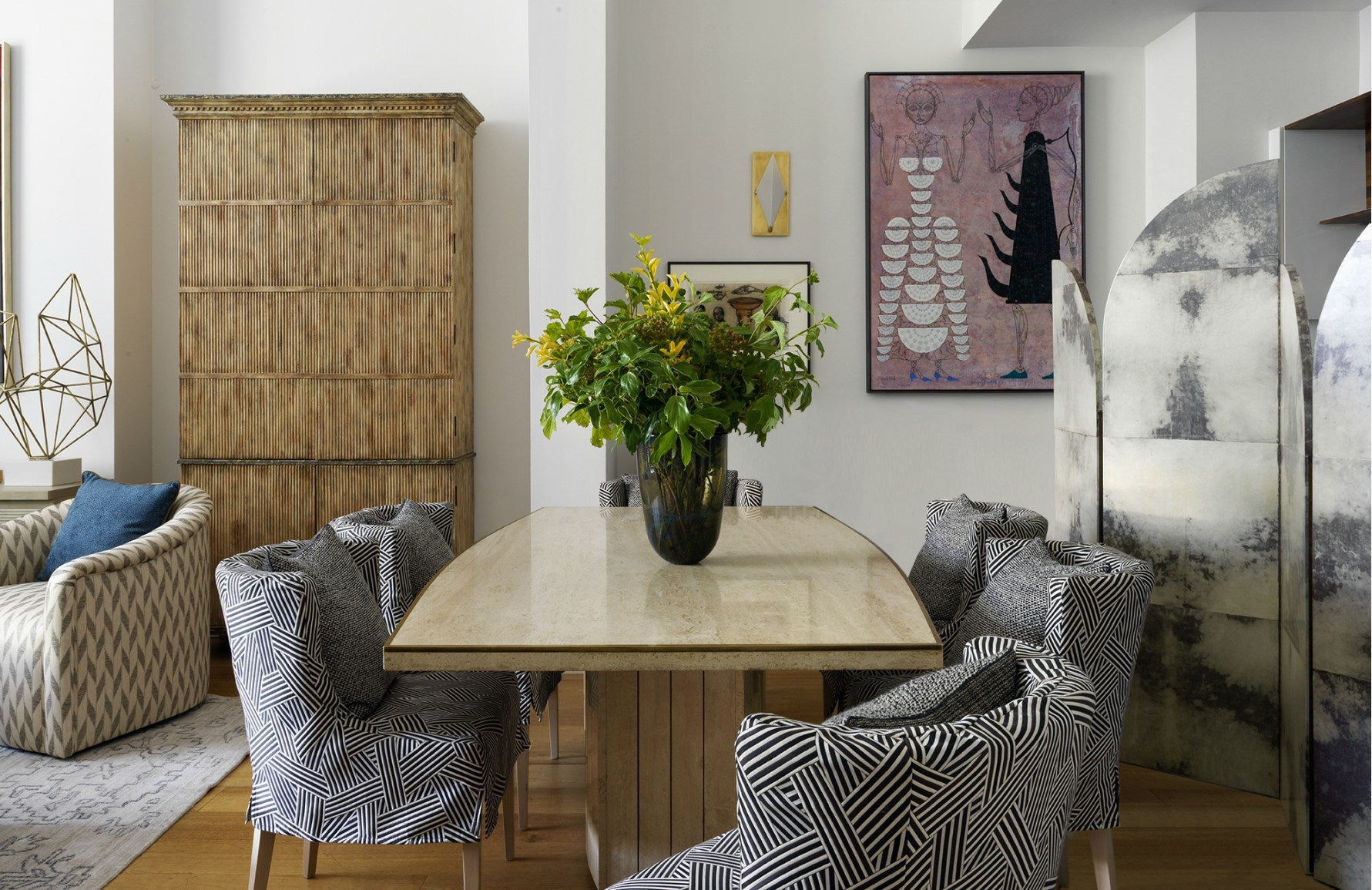 Combining Cultures Through Design   Eclectic dining room   Natalia Miyar's dining room   Read more in The Luxurist