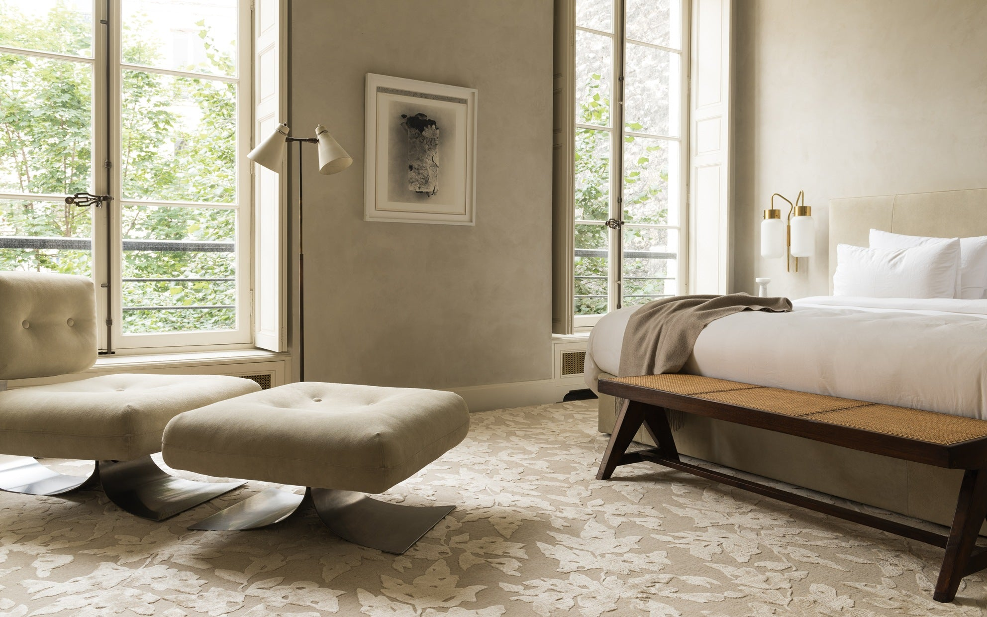 Cream Bedroom Colour Scheme - Neutral Bedroom Colour Ideas - LuxDeco.com