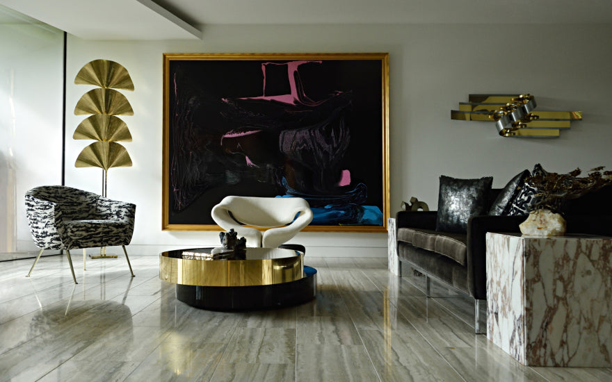 Feature Wall Ideas for your Living Room - David Hicks - LuxDeco Style Guide