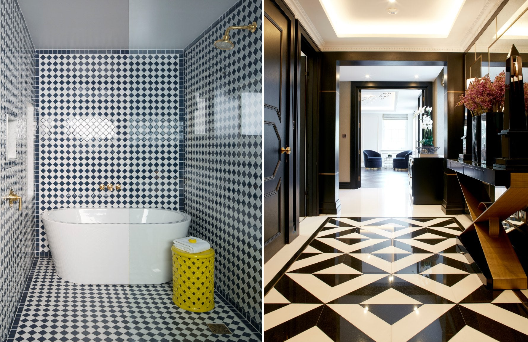 Forms of Geometric Shapes & Patterns In Interior Design | Squares & Triangles | LuxDeco.com Style Guide