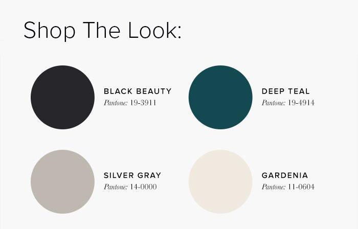 Grey and Teal Bedroom Colour swatches - Bedroom Colour Scheme Ideas & Combinations – LuxDeco Style Guide