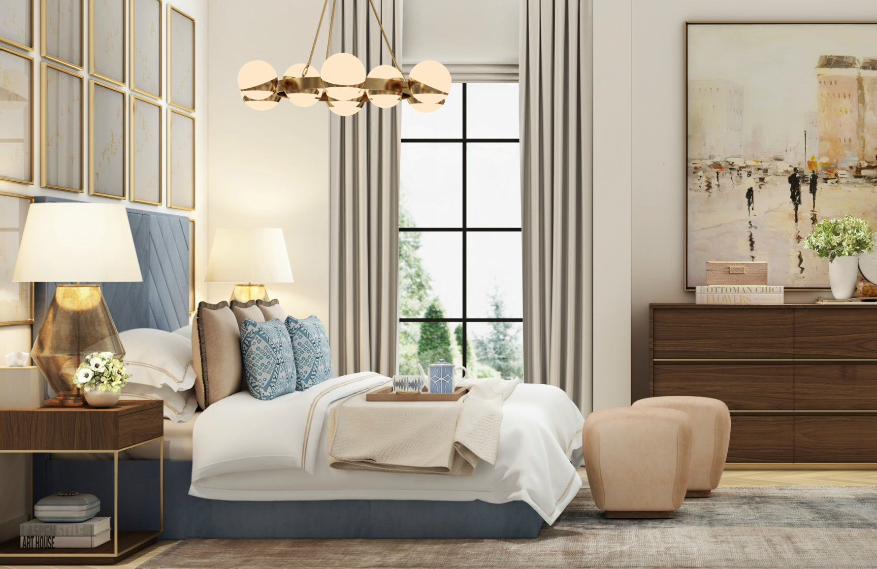 Get The Look | Wimbledon Collection | Luxury Bedroom Design | Shop the look at LuxDeco.com