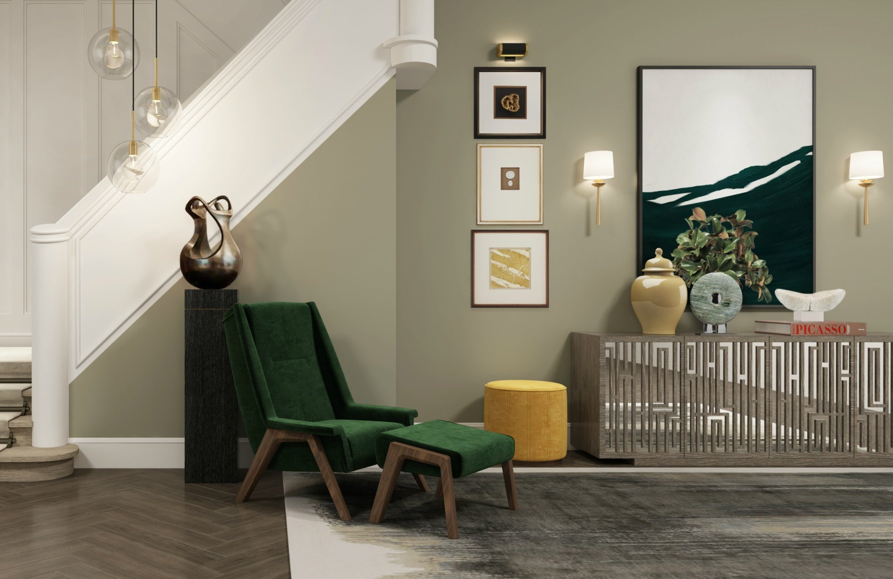Get The Look | Wimbledon Collection | Luxury Hallway Design | Shop the look at LuxDeco.com