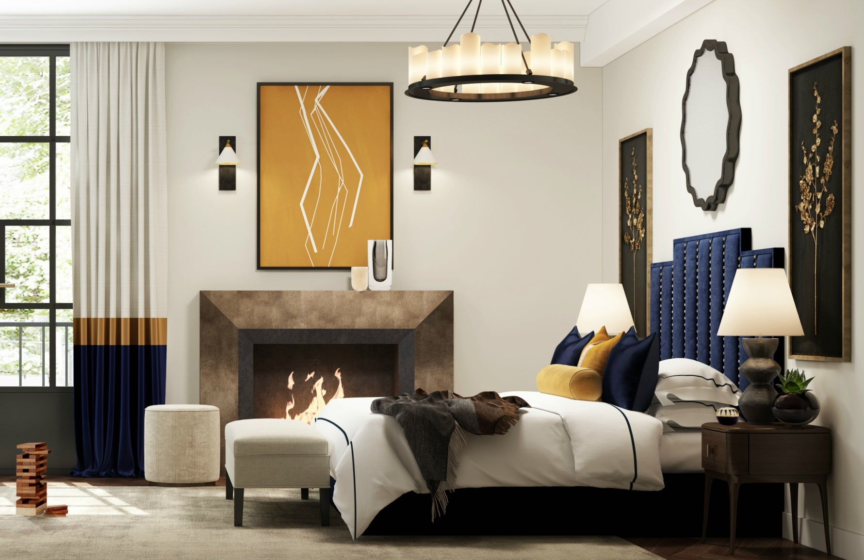 Get The Look | Wimbledon Collection | Luxury Master Bedroom Style | Eclectic Bedroom | Shop the look at LuxDeco.com
