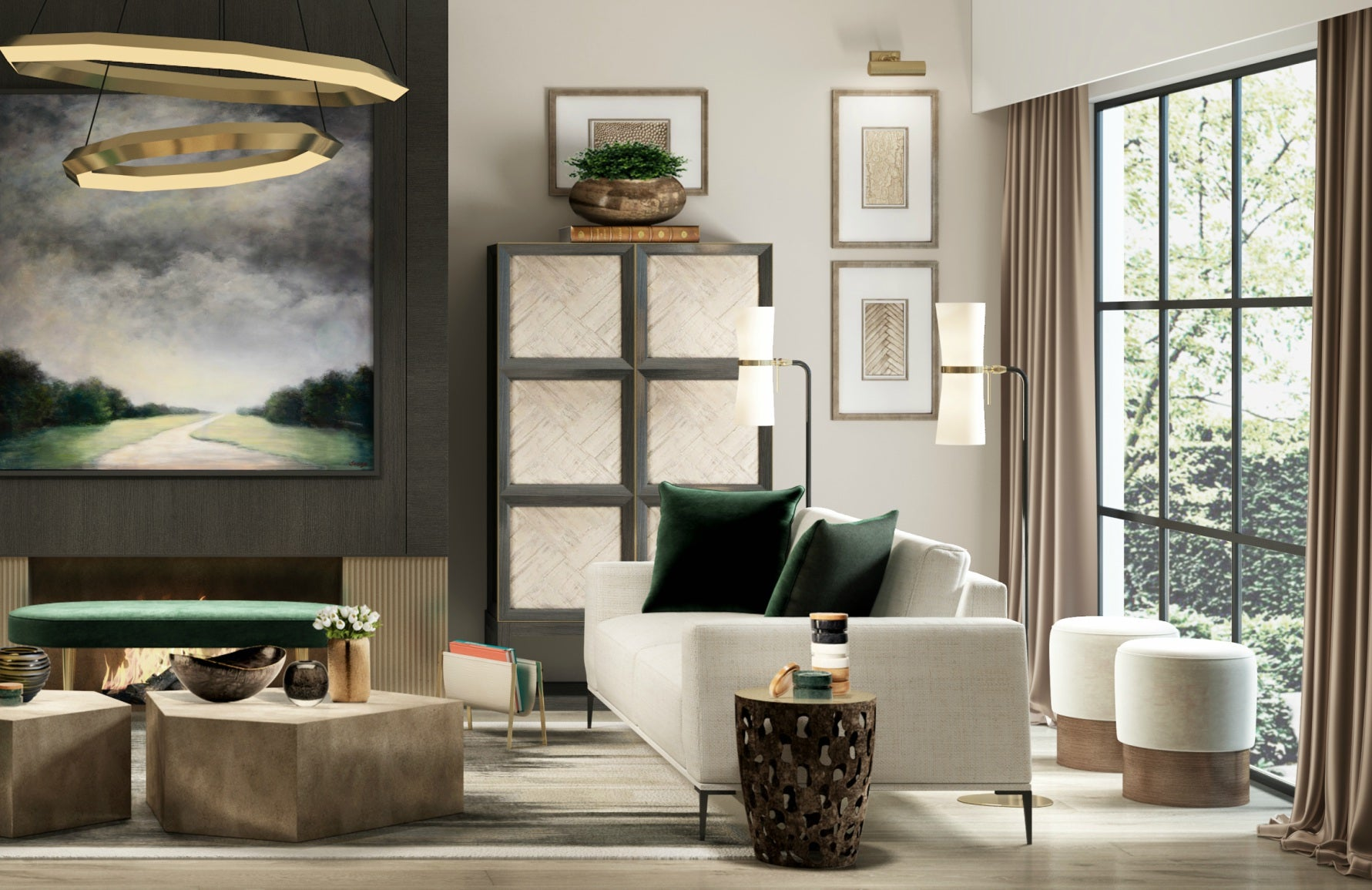 Get The Look | Wimbledon Collection | Modern Bedroom Design | Shop the look at LuxDeco.com