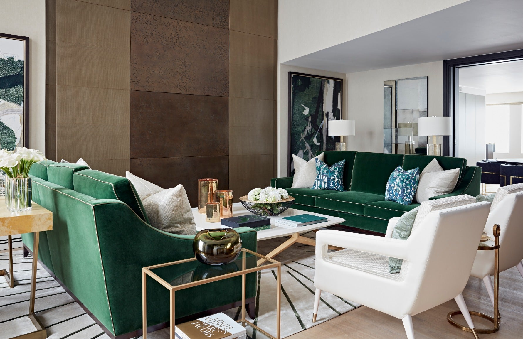 Green Living Room | Interior by Taylor Howes | Shop colourful decor on LuxDeco.com
