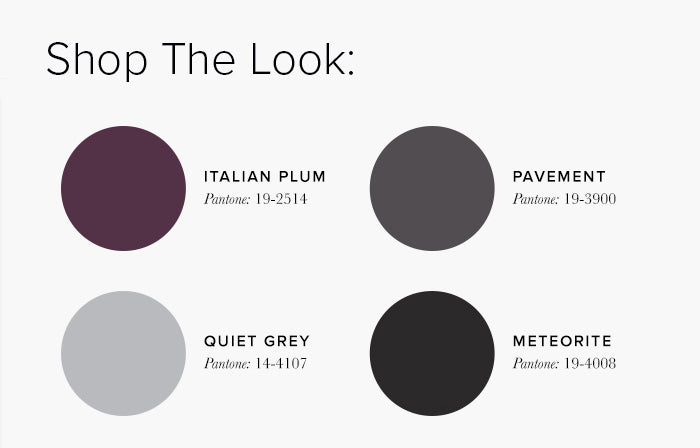 Grey and purple Living Room Colour swatches - Lounge Colour Schemes & Colour Combination ideas – LuxDeco Style Guide