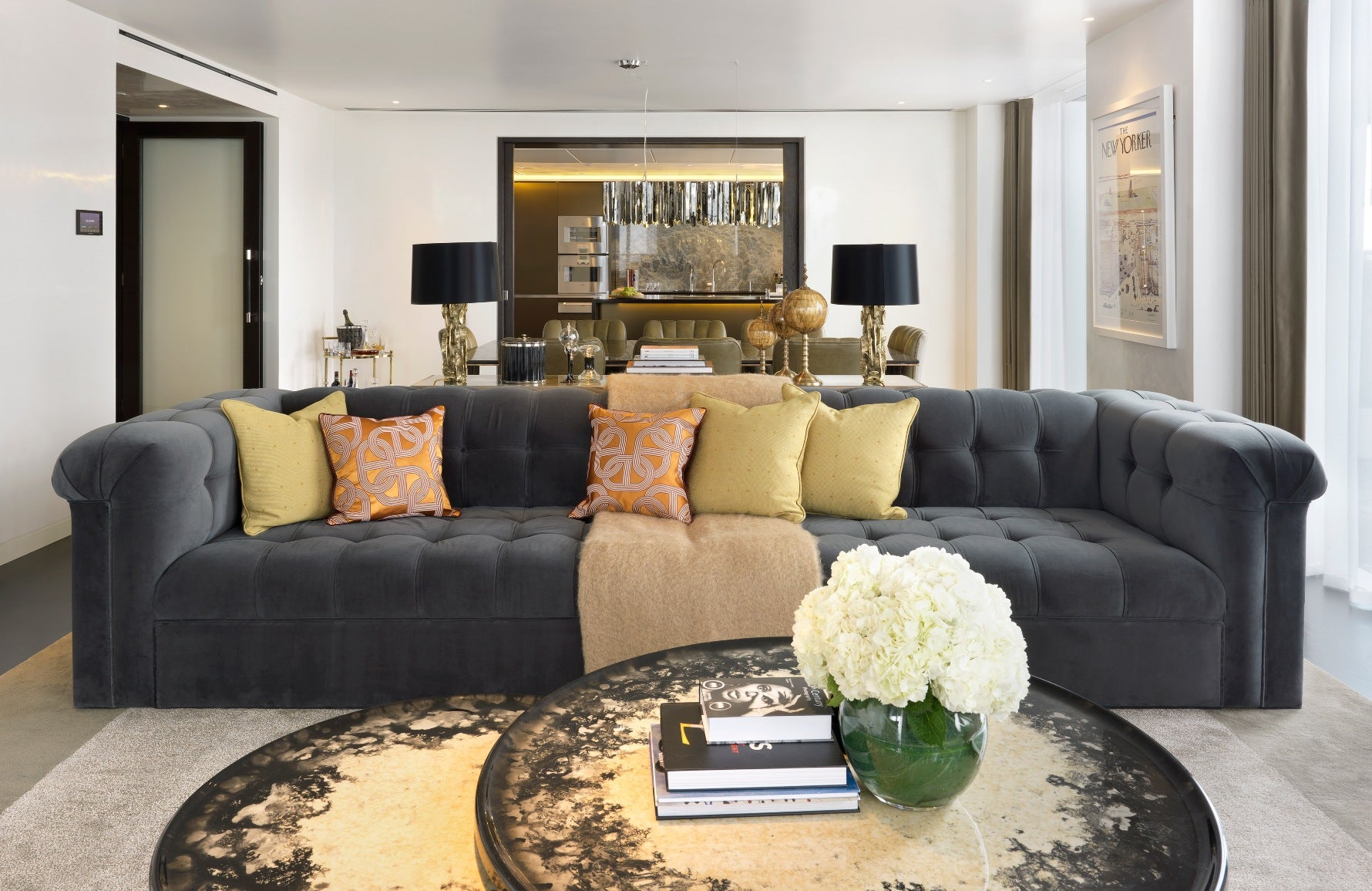 How To Style Your Sofa Cushions – Hybrid cushion arrangement – Shop Luxury Cushions at LuxDeco.com
