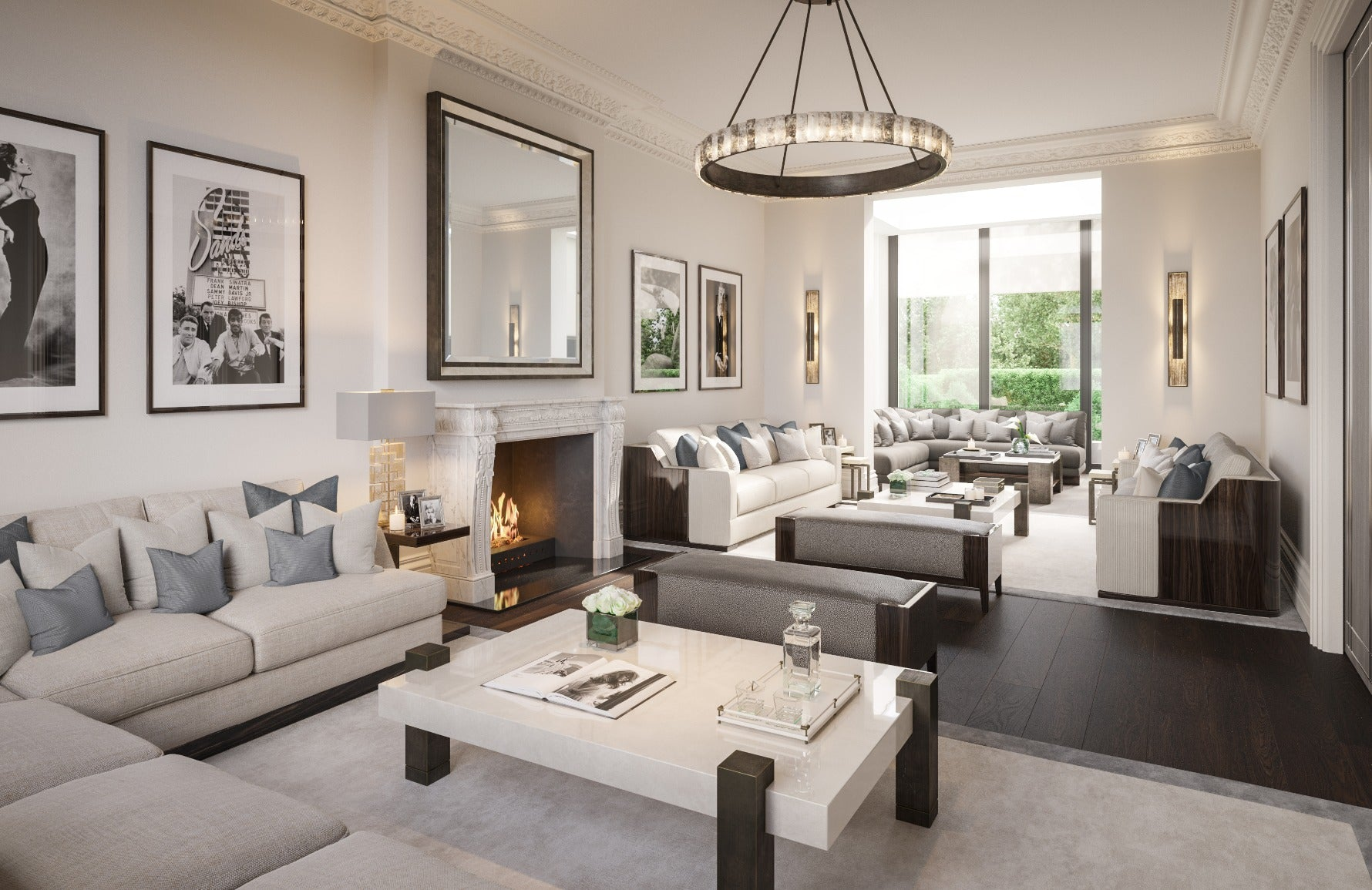 How To Decorate A Large Living Room | Interior by Elicyon | Read more in the LuxDeco.com Style Guide