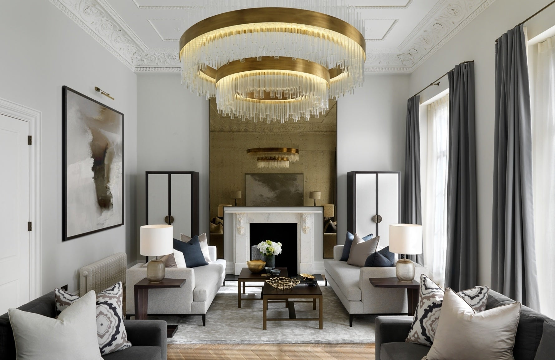 How To Decorate A Large Living Room | Interior by Laura Hammett | Read more in the LuxDeco.com Style Guide