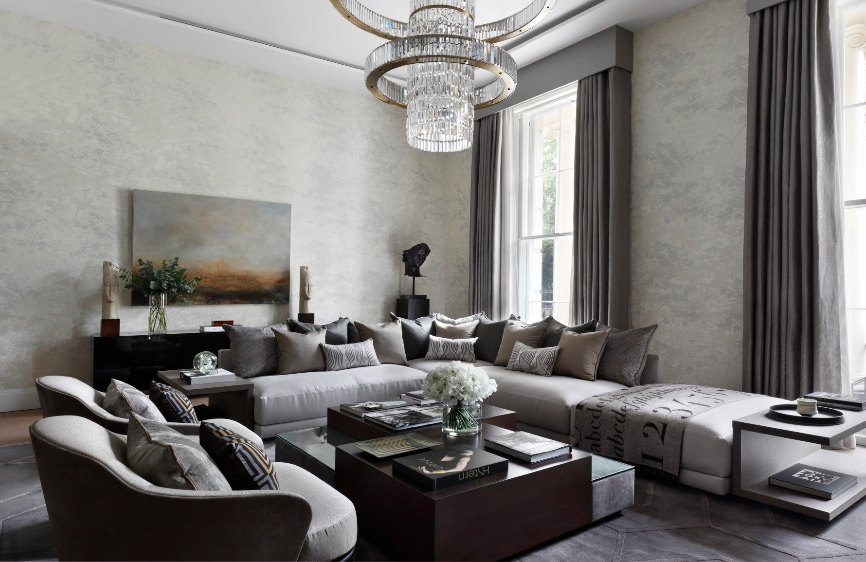 How To Decorate A Large Living Room | Interior by Oliver Burns | Read more in the LuxDeco.com Style Guide