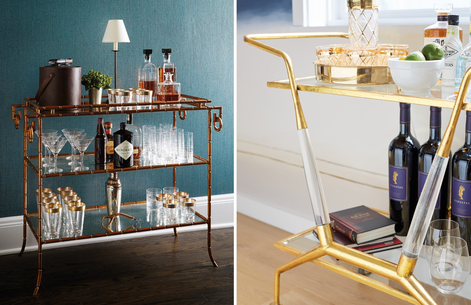 How To Create A Stylish Bar Cart Luxdeco Com