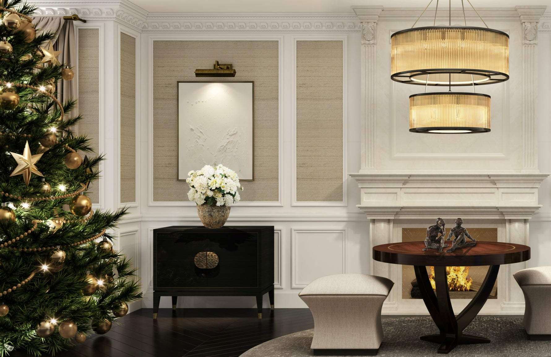 How To Decorate Your Home For Christmas | Christmas Entryway | LuxDeco.com