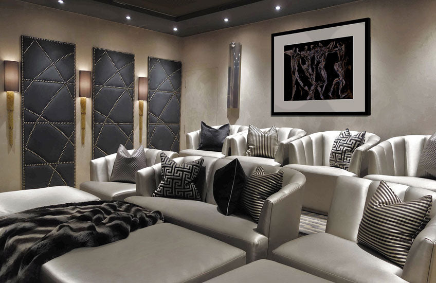 How To Design Your Own Home Cinema Room | Cinema Room by René Dekker | Get the look at LuxDeco.com