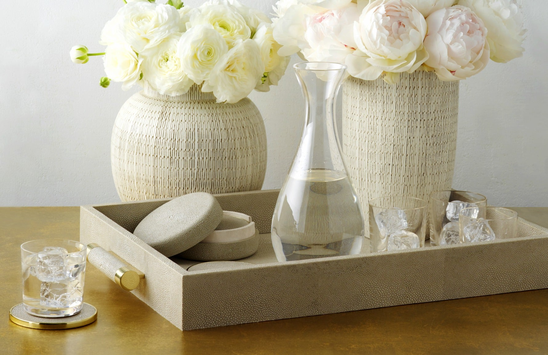 How To Host The Perfect Easter Lunch | AERIN shagreen decor | LuxDeco.com