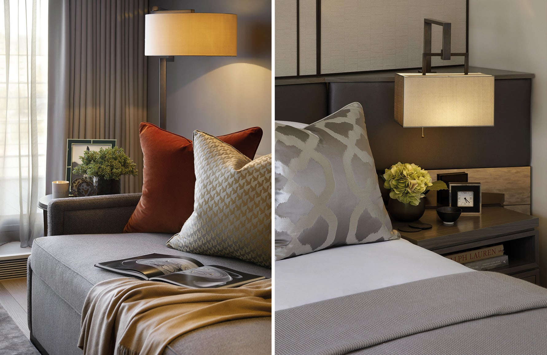 How To Light Your Home For Winter | Luxury Bedroom Design | Interior design by Laura Hammett | Read more in LuxDeco.com