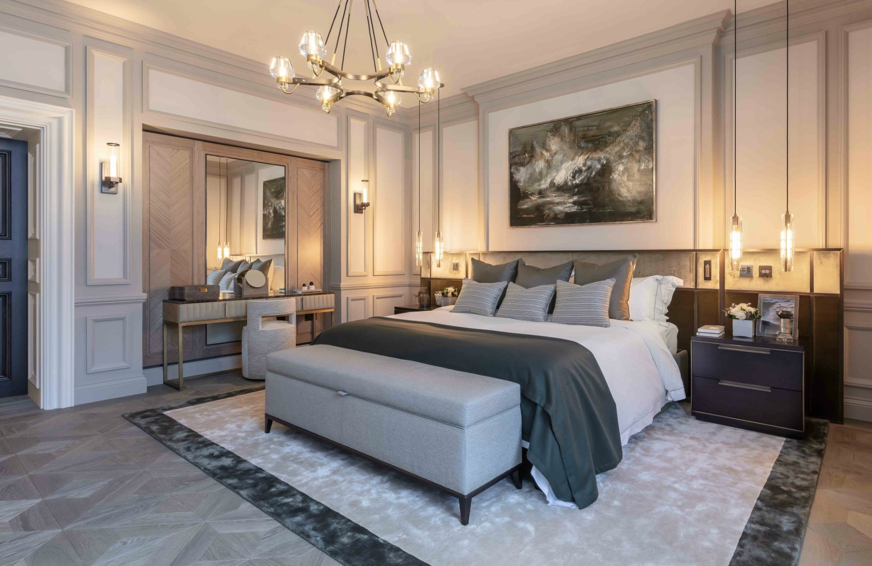 How To Light Your Home For Winter | Luxury Bedroom Interiors | Interior design by 1508 London | Read more in LuxDeco.com